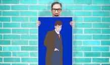 Doctor Who David Tennent 10th Doctor Art - Wall Art Print Poster   - Kids Children Bedroom Geekery